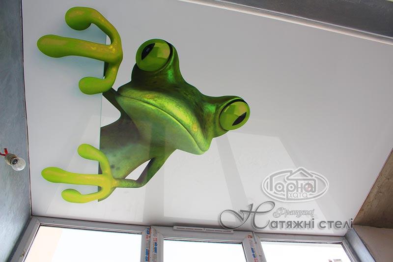 натяжні стелі з фотодруком ящірка