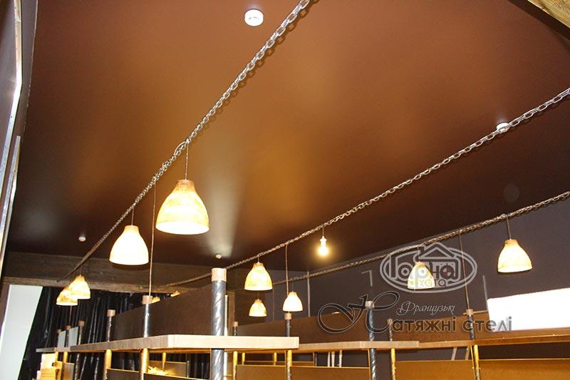 коричневі натяжні стелі